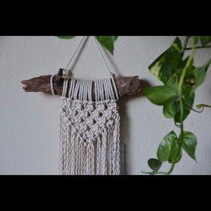 Small macrame wall hanging handmade